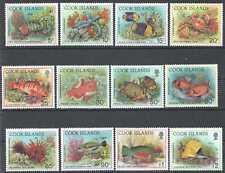 L1499 COOK ISLANDS FISH & MARINE LIFE FAUNA SET MNH