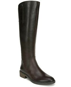 FRANCO SARTO Becky BROWN Weathered Leather WIDE CALF Boots Women Sz 6.5, 10 NEW