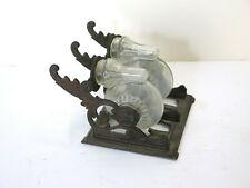 Antique Victorian Double Inkwell Tilt Bottles 1879