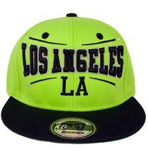 KB Ethos Mens Boys LA Snapback Caps Baseball Hip Hop Truckers Hats LimeGreen