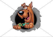 Scooby DOO trou 3D Drôle VOITURE / FOURGONNETTE / / Fenêtre Autocollant Pare-chocs Autocollant Boîte à outils