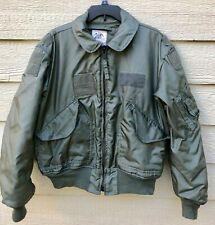 1984 USAF GREEN NOMEX FIRE RESISTANT COLD WEATHER FLYERS JACKET CWU-45/P - LARGE