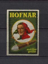 Hofnar Cigars Dutch Vintage Matchbox Label