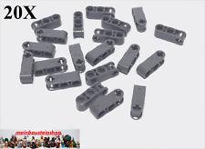 20X Lego® 42003 Technik Achs- Pin Verbinder 1X3 neues Dunkelgrau NEU