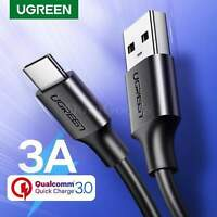 Ugreen USB Type C Charger Cable Quick Charge 3.0 Fast Charging Type-C Wire Cord
