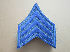 Sergeant Blue Rank Insignia Military Woven Cloth Patch Badge (L1K)