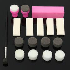 Kit 17 Stamping Stamp Tampon Pochoir Éponge Vernis Ongle Pinceau Buffer Nail Art