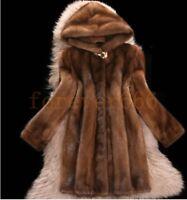 Fashion Damen Wintermantel Damenjacke Pelz Pelzmantel Kapuze Jacke Mantel