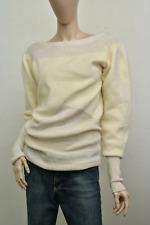 Paul & Joe Cream & Gold Sweater Size 2 Womens Lambswool Angora Blend