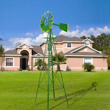 8Ft Tall Windmill Ornamental Wind Wheel Vane Mill Weather Resistant Yard Garden