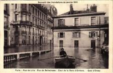 CPA PARIS Rue de Lille Rue de Bellechasse INONDATIONS 1910 (605757)