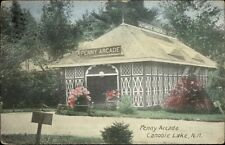 Canobie Lake NH Penny Arcade Bldg c1910 Postcard - Frank Swallow