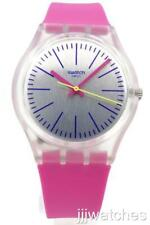 New Swatch Originals FLUO PINKY Hot Pink Silicone Women Watch 34mm GE256 $70