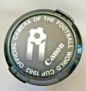 Canon 52mm 1982 Football World Cup Lens Cap. Made in Japan  B1