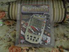 ELECTRONIC BACKGAMMON GAME LARGE LCD DISPLAY - MICROGEAR