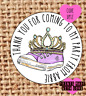 Princess party stickers x 24  /  favours / UP12 / sweets cone / trainers