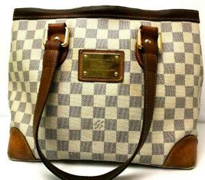 Auth Louis Vuitton Handbag Damier Azur Monogram Hampstead PM Purse Shoulder bag