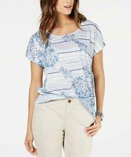 Style & Co Women's Printed Scoop-Neck Top
