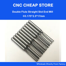 Double Two Flute Straight Slot Cnc Router Bits Wood Mdf Milling Cutter 2.5*17mm