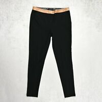 Womens TED BAKER Skinny Pants Trousers SLIM Size 3 UK 12 Stretch Rose gold Zips