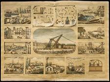 Rare 1853ca - La mécanique - Planche encyclopédique, scolaire, affiche, estampe