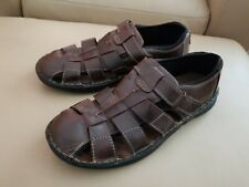 01175b11376 CLARK S Men s Brown Leather Casual Fisherman Sandals Shoes US SIZE ...