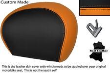 Negro Y Naranja Custom encaja Piaggio Vespa 125 250 300 Gts Cuero Respaldo cubierta