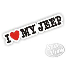 I Heart Love My Jeep Safari Army 4x4 Wrangler Car Van Sticker Decal