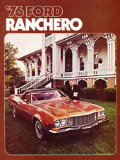 1976 Ford Ranchero Sales Brochure Squire 500 Gt Deluxe