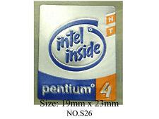 5 New INTEL PENTIUM 4 HT P4 computer sticker badge logo S26