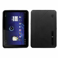 Black S Shape TPU Phone Protector Skin Case Cover For Motorola Xoom MZ600