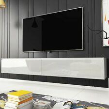 TV-Lowboard Viva D 180 TV-Tisch Hochglanz Beleuchtung Wohnzimmer Hängeschrank