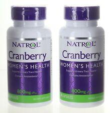2 Pack Natrol CRANBERRY Women's Health - 800 mg 30 Capsules Each (N-27)