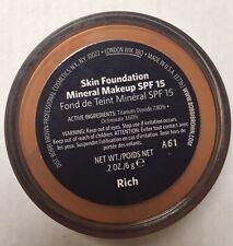 Bobbi Brown Skin Foundation Mineral Make Up Spf 15 .shade Rich  6g