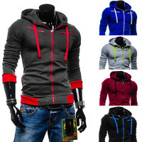 Stylish Men's Slim Fit Zip Up Hooded Hoodies Sweatshirt Coat Jacket Sweater Tops