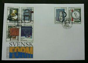 [SJ] Sweden Arts 1994 Design Glass Ceramic Furniture Craft (stamp FDC)