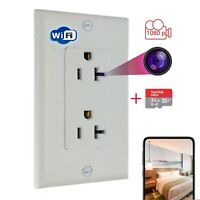 Hidden 1080p Wifi Secret Nanny Spy Camera in Wall Outlet,Socket Can Supply Power