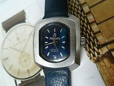 Date @ 6 S/S Vintage 1970's Lady's Nivada Automatic Incabloc Swiss Watch Runs