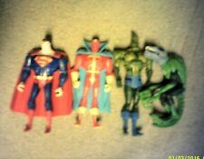 "DC Justice League Unlimited 4""  Action Figures JLU 4 LOT SUPERMAN RED TORNADO"