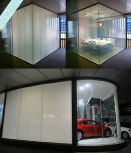 2pcs combination White PDLC Smart Film Electric Switchable privacy glass sticker