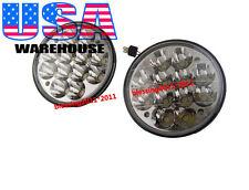 "5-3/4"" HID LED CREE LIGHT BULB CLEAR SEALED BEAM CRYSTAL HEADLAMP LIGHT 12V PAIR"