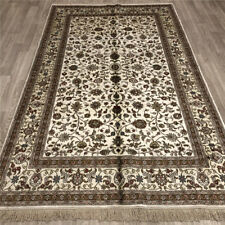 Yilong 5'x8' Middle Handmade Silk Area Rug Oriental Hand Knotted Carpets 010B