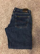 Lee straight fit denim blue jeans 33x29 mens dark wash regular fit?