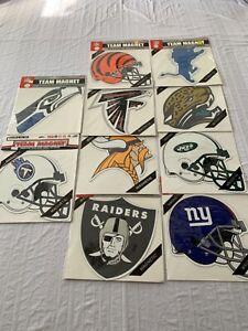 """NFL Assorted Teams Car Magnet 12"""" Fremont Die Brand New"""