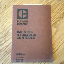 CAT Caterpillar 153 163 PARTS BOOK CATALOG MANUAL HYDRAULIC CONTROLS LIST D5 D6