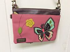 Chala New Colorful Butterfly Pink Mini Crossbody Bag Small Convertible Purse