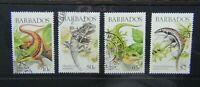 Barbados 1988 Lizards of Barbados set Used