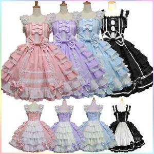 Chiffon Princess Dress Palace Gothic Maid outfit Cosplay Costume Dress Lolita