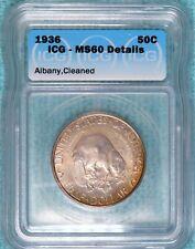 1936 MS-60 Albany New York 250th Anniversary Commemorative Half 17,671 Minted