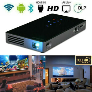DLP Android 4K Wifi Projector Wireless HD 1080P Home Cinema Theater HDMI/USB/SD